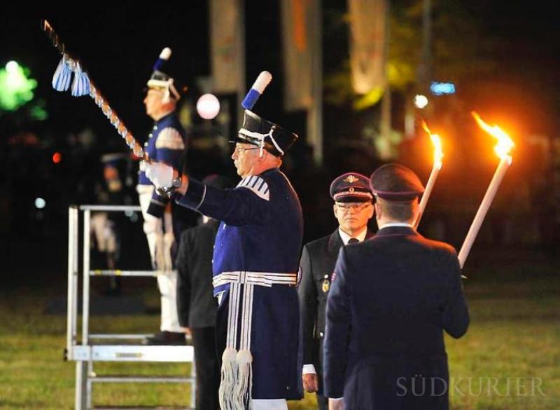 Bürgerwehrtreffen Villingen - Samstag abend: Zapfenstreich